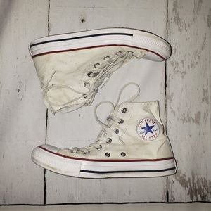 Converse size 8 white high tops
